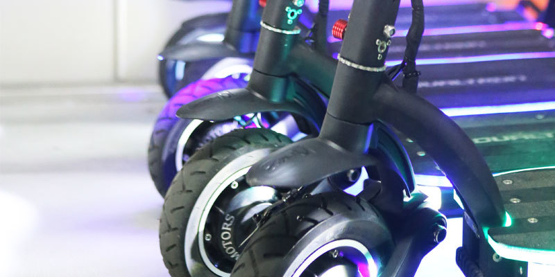 Dualtron scooter wheel detail